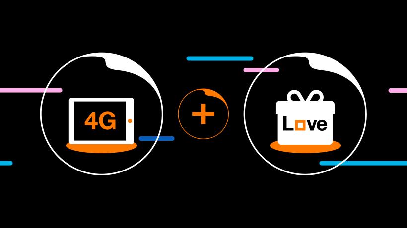 Orange ponúka 4G internet na doma s výhodami balíka Love