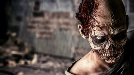 zombie postava z filmu The Walking Dead